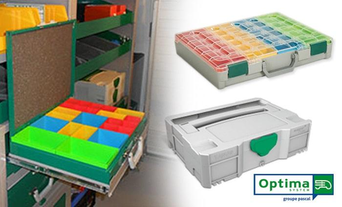 Optimisez l'aménagement de votre véhicule utilitaire, avec les valises de rangement OPTIMA System