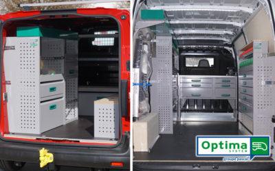 Les aménagements pour utilitaires OPTIMA System = sécurité et optimisation de votre outil de travail