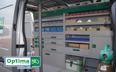 Mobilier structurel OPTIMA System, du sur-mesure pour votre véhicule utilitaire
