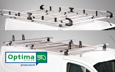Gamme modulaire de galeries et barres de toit OPTIMA System, optimisez le chargement de votre utilitaire