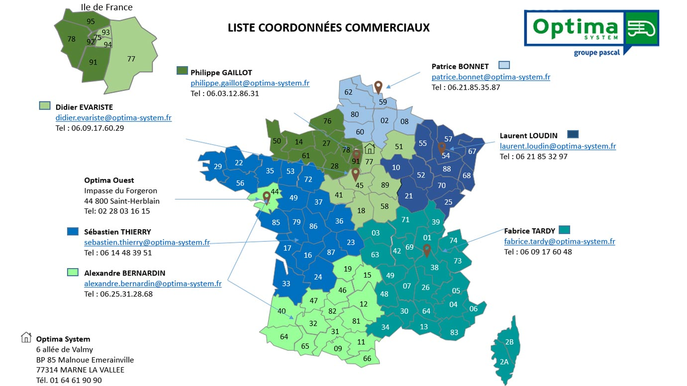 carte commerciaux optima system