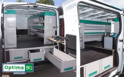 Aménagement de véhicule utilitaire en atelier autonome, pour l'entretien automobile à domicile