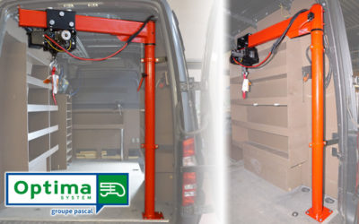 Potence de levage électrique OPTIMA System, pour sécuriser le chargement de votre véhicule utilitaire
